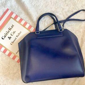 Pre loved Cobalt Blue Structured Zara Bag XL